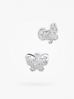 Studs earrings, full cubic zirconia